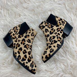 Steve Madden palace leopard print booties size 6 B
